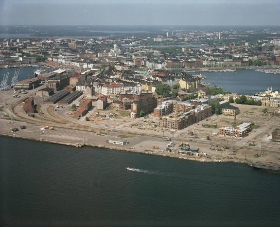 Katajanokan rakennustöitä vuonna 1978. Kuva: Helsingin kaupungin aineistopankki / kaupunginmuseo