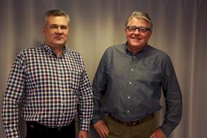 Kuvassa vasemmalta Jouni Lievonen ja Timo Halonen