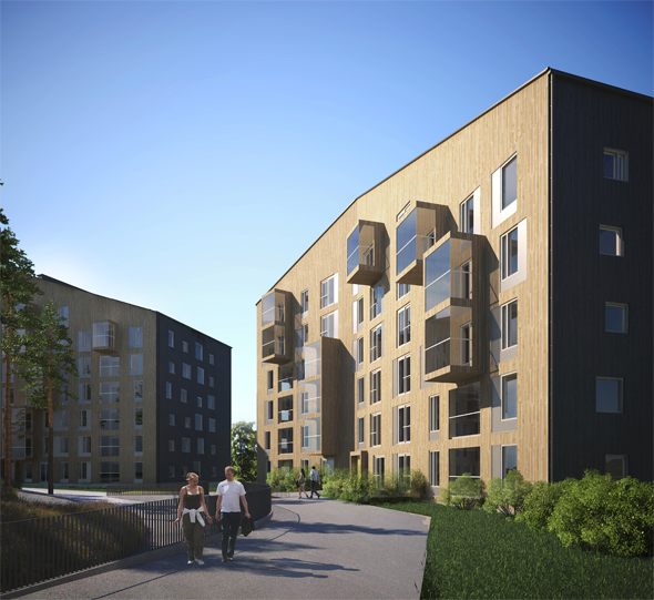 Jyväskylän Kuokkalaan on rakenteilla uusi Omaksi-kohde, Puukuokka 2, jonka suunniteltu valmistuminen on vuonna 2017. Omaksi-asuntoja kohteessa on yhteensä 70 kpl. Havainnekuva: Arkkitehtitoimisto OOPEAA