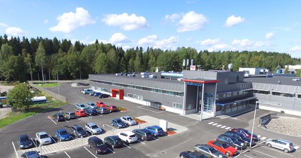 Teknowaren viimeisin tehdaslaajennus Lahdessa lisäsi tuotanto- ja toimistotiloja 4 500 m2:lla.