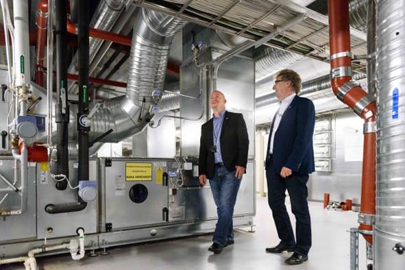 Eteran omistamissa toimistokiinteistöissä Helsingin Pitäjänmäessä on tehty energiatehokkuusremontti. Kuva: Etera