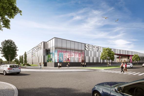Jyväskylään Seppälän alueelle vuonna 2017 valmistuva kauppakeskus Seppä on moderni muodin ja erikoiskaupan keskus.